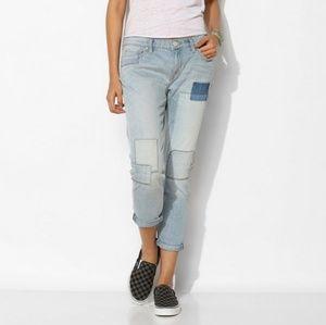 Urban Outfitters Patchwork Slim Boyfriend Jeans 32